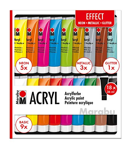 Marabu Pinturas acrílicas, multicolor, 36ml
