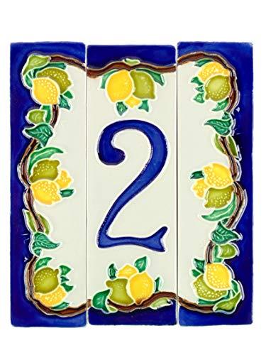 fd-bolletta arredamento e illuminazione Hausnummern Keramik,hausnummernschild,hausnummer keramik italien nl1 Maße:Höhe 15cm, gesamtbreite 13cm