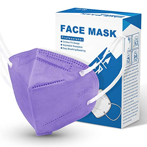 [10 Pieces] Disposable KN95 Face Mask Mouth Cover Masks (Purple)