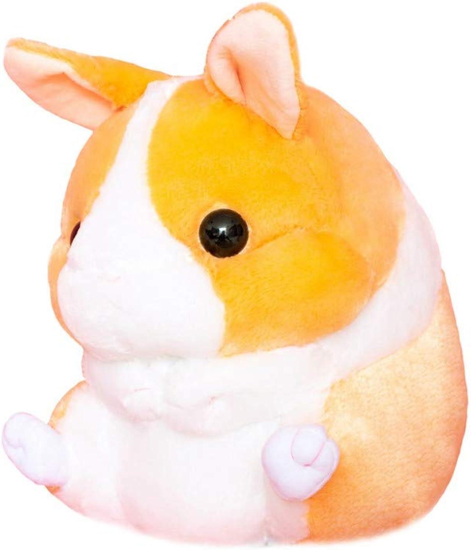 LAIBAERDAN Creative Toys Cute Sitting Hamster Plush Toy Round Billowed Plush Doll To Send Girls Gifts