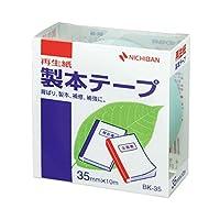 (まとめ) ニチバン 製本テープ<再生紙> 35mm×10m パステルグリーン BK-3531 1巻 【×10セット】 ds-1584317