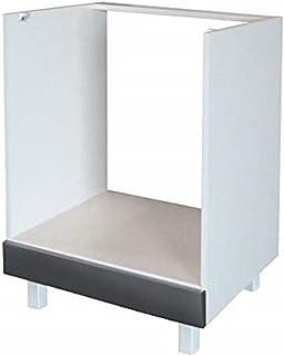 Berlenus CF6BG - Mueble bajo de Cocina para el Horno (60 cm) Color Gris Brillante