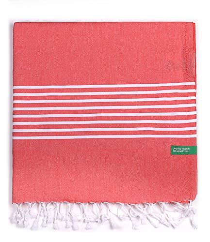 UNITED COLORS OF BENETTON. Hamman 80x165cm 170gsm 100% algodón Rojo Casa Benetton, 80x165