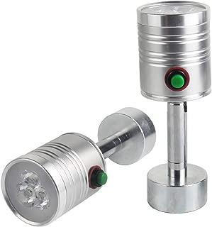Led Strong Magnetic Light 300 Lumen Rotating Work Light 3 watt 120 Volt Spotlight for Car Repair, Workshop, Home Using 100 inch Power Cord (2 Pack)