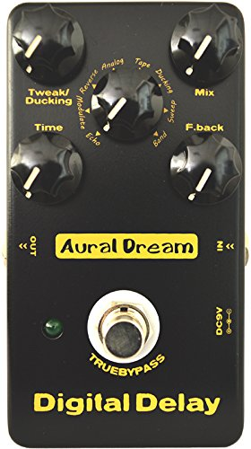 Aural Dream Digital Delay Guitar Effect Pedal includes Echo,Tape,Analog,Band,Sweep,Ducking and Reverse Spacious delay effects,True Bypass.