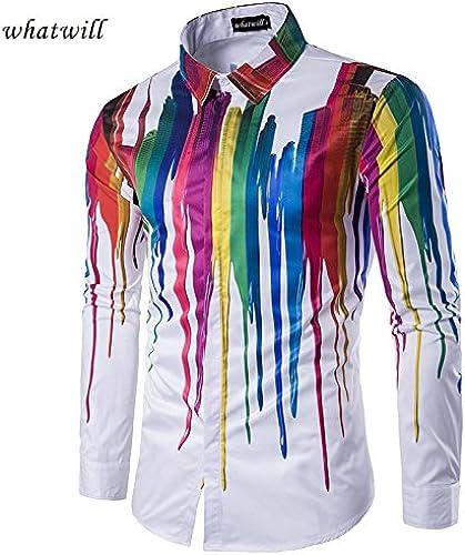 MAYUAN520 Chemises Tops Shirt Shirts Men 3D Fashion Hip hop Chemise Homme Casual Camisas Chemises pour Hommes vêtements de Marque,c199,M