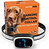 BRISON Dog Bark Collar - 3 Modes Beep Vibration Static Shock - Rechargeable Waterproof Anti Bark Collar for Small Medium...