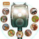 CAMTOA Tiervertreiber, Solar Katzenschreck, Ultraschall Abwehr-Wasserdicht, mit Batteriebetrieben...