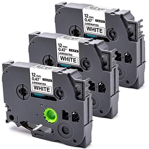 B-T 3x Kompatible Schriftband als Ersatz für Brother TZe-231 TZ231 TZ-231 Tze Schriftbänder 12mm x 8m für Brother P-Touch P300BT Cube PT 1000 H107B E110 H101C H200 1080 D400 E500VP H105 D600VP H100R