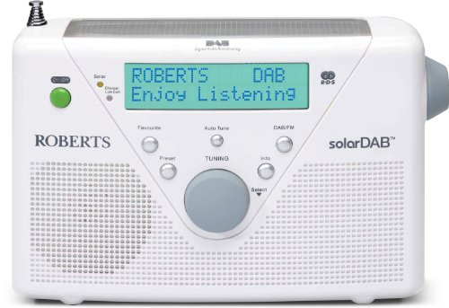 solarDABII portable (DAB+ / UKW / Solarradio mit eingeb. Ladegerät) weiss