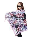 HX fashion Pequeño gusano de seda Primavera y otoño Dama Profesional Basic Pequeña bufanda cuadrada pequeña Ropa (Color : Rosa, Size : 100 * 180CM)