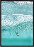 SXXRZA Imagen de póster 50x70cm sin Marco Carteles de Paisaje Tropical escandinavo Impresiones Modernas Arte de Pared de mar Lienzo Pintura Cuadro de decoración