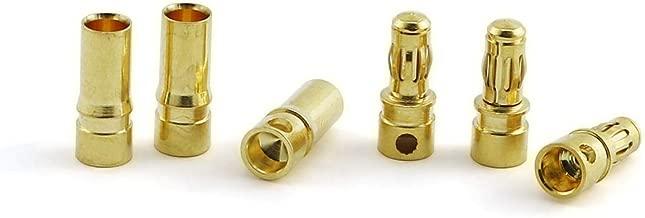 JCBIZ 12 Pairs 3.5mm Male Female Gold Plated Banana Bullet Plug Connector Kit for ESC Motor Battery