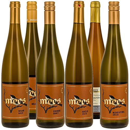 Weingut Mees WEISSWEIN LIEBLICH EDELSÜSS SÜSS PROBIERPAKET Weißwein Wein süß Deutschland Nahe Set (6 x 750 ml)