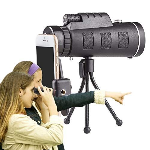 MKDASFD Lente de teléfono con Zoom monocular, telescopio para teléfono Inteligente, Lentes de cámara, teléfono con Lente móvil para iPhone 11 8 7 Plus, teléfono con Lente Macro