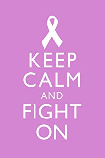 Breast Cancer Keep Calm and Fight On Awareness Motivational Inspirational Pink Cool Huge Large Giant Poster Art 36x54
