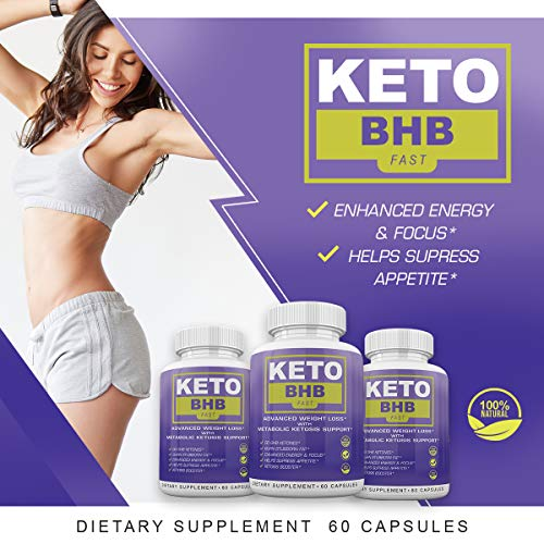 Keto BHB Fast - Advanced Weight Loss with Metabolic Ketosis Support - 180 Capsules - 90 Day Supply 2
