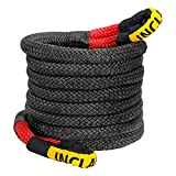 INCLAKE 7/8' x 30ft Kinetic Recovery & Tow Rope, Energy Recovery Rope (28660 Lbs) , Heavy Duty Nylon Double Braided Tow Strap with Reinforced Loops and Protective Sleeve for Truck/Off-Road/ATV/UTV