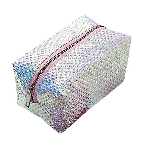 TENDYCOCO Kosmetiktasche Hologramm Make-up Tasche holographische Kosmetiktasche Reißverschluss Bürstentasche