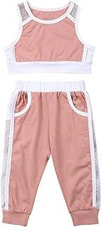 Bebé Niñas Pequeñas Ropa Deportiva 2 Piezas Conjunto Crop Top Camiseta Corta Pantalones Largos/Cortos Shorts 2 PCS Chándal...