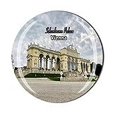 Schönbrunn Palace Wien Österreich Kühlschrankmagnet Reise Souvenir Geschenk Zuhause Küche Kühlschrank Dekoration Magnet Sticker Crystal Magnet Collection
