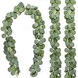 OSALAD 1 Pieza De Guirnalda De Eucalipto Verde Artificial Hojas De Vid Plantas Artificiales De Ratán para Boda Fiesta Telón De Fondo Arco Pared del Hogar