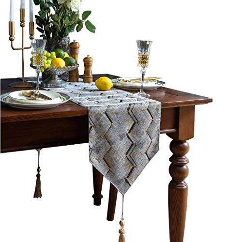 MUMUMI Table Runners,European-Style Blended Striped Table Runner, Dining Table, Coffee Table, Side Cabinet, Long Decorative Cloth 30X200Cm,a,30X220Cm