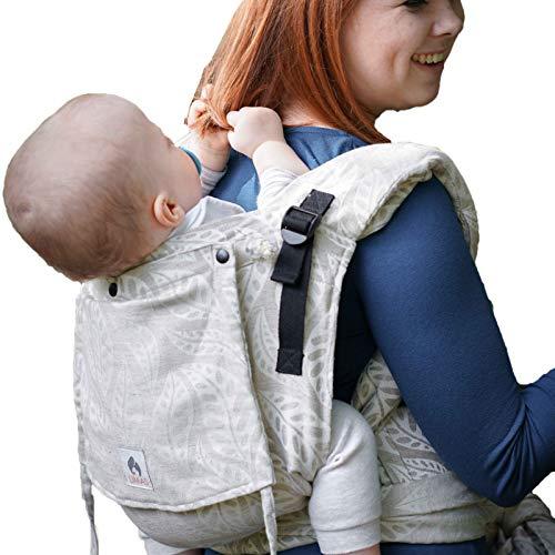 LIMAS Plus Babytrage Halfbuckle | 56-104 cm | Bauchtrage & Rückentrage & Hüfttrage | ab Geburt bis Kleinkindalter | Baby Carrier | Valerie