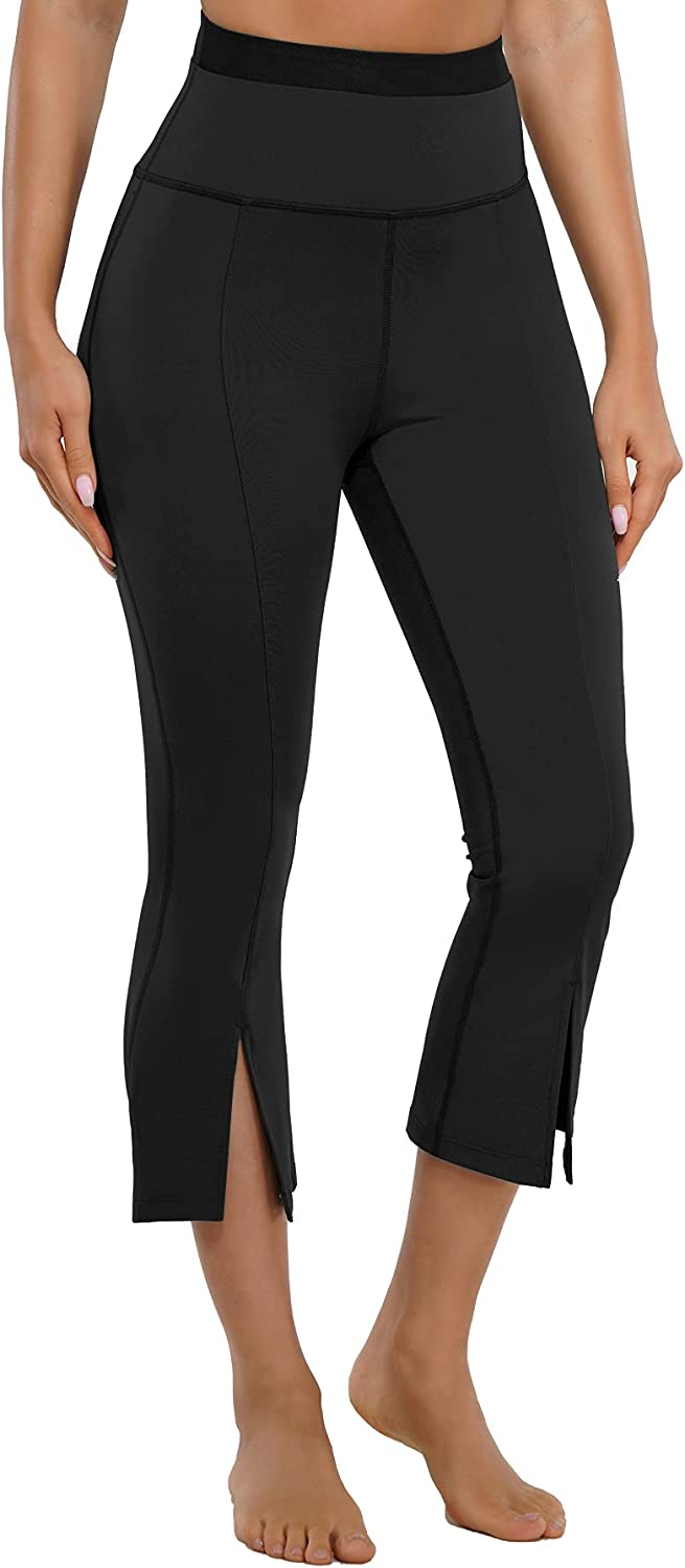 HAENPISY Capri Deluxe Yoga Pants for Shipping included Women Control W High Tummy Waisted