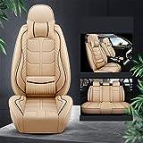 Ciroing Fundas Asientos Coche Accesorios Universales para Peugeot 6008 608 108 4008 407 3008 408 GT 607 206 5008 307 207 308 Cuero Funda Asiento Seat,Lujo Beige