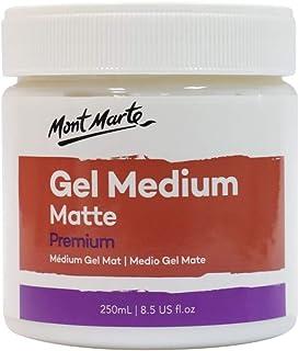 Mont Marte Premium Gel Medium Matte 8.5oz (250ml), Suitable for Acrylic Paints