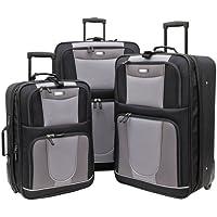 Geoffrey Beene 3-Piece Carnegie Luggage Set (Black)