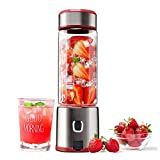 Portable Blender, TTLIFE 5200mAh Cordless Personal Juice blender USB Rechargeable with Cable Charge,...