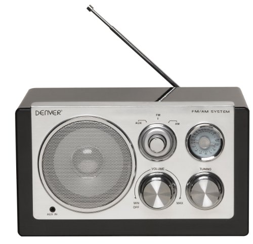 Denver TR-61 Smart Design AM/FM Radio schwarz