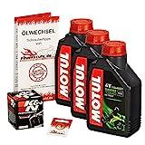 Motul 10W-40 Öl + K&N Ölfilter CBR 600 RR, 03-15, PC37 PC40 - Ölwechselset inkl. Motoröl, Filter, Dichtring