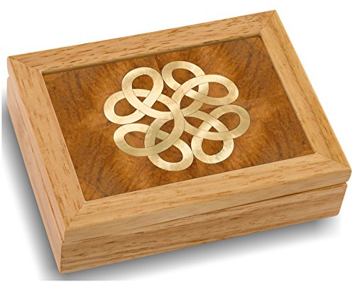 MarqART Wood Art Celtic Box - Handmade USA - Unmatched Quality - Unique, No Two are The Same - Original Work of Wood Art. A Celtic Gift, Ring, Trinket or Wood Jewelry Box (4852 Celtic Knot 4x5x1.5) (Wood Jewelry Trinket)