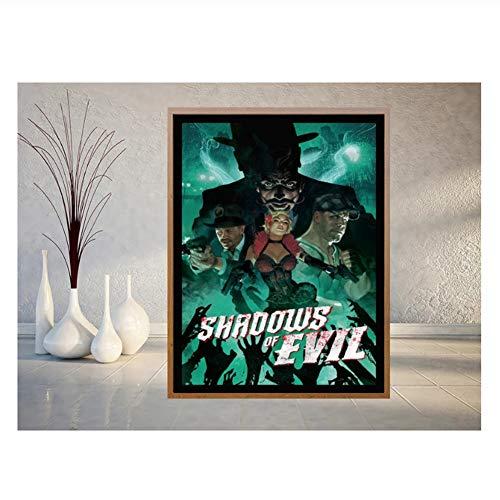 Suuyar Call of Duty Black Ops 3 Schatten des Bösen Poster und Druck Wandkunst Bild Malerei Wohnkultur Druck auf Leinwand Wandkunst 60x90cm ohne Rahmen