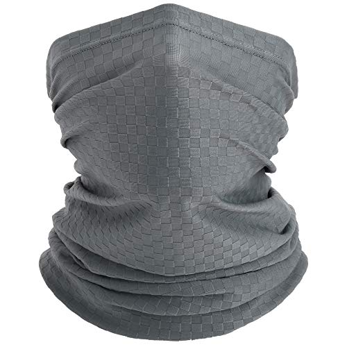 WTACTFUL Cool Lightweight Neck Gaiter Bandana Face Scarf Mask, Dust, Sun Protection Windproof Breathable Hunting Fishing Hiking Climbing Running Cycling Outdoor Gray