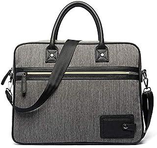 Men's Messenger Bag Portable Waterproof Oxford Cloth Computer Laptop Bag Briefcase Cover Black Casual Vintage Style (Color : Dark Blue) Elise (Color : Gray)