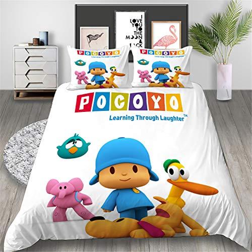 WFBZ - Juego de ropa de cama para niños, 1 funda nórdica y 2 fundas de almohada de 50 x 75 cm (05,200 x 200 cm, 3 piezas)