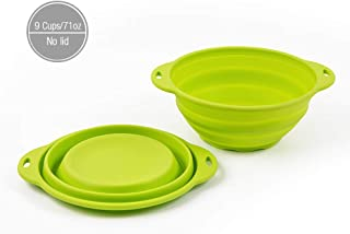 Jovilife Silicone bowl Collapsible(Squish) Mixing Bowl,Green(9 Cups/71oz)