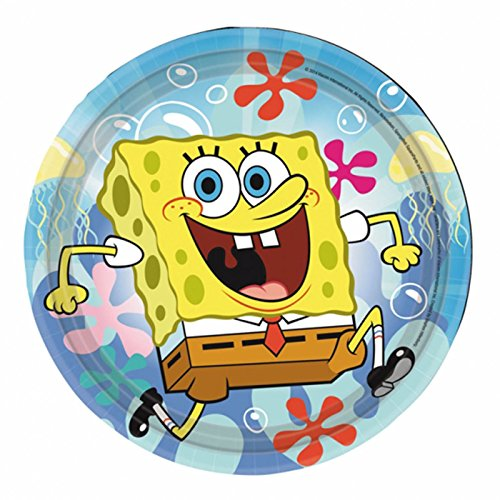 Amscan International 18 cm Sponge Bob Papier Teller