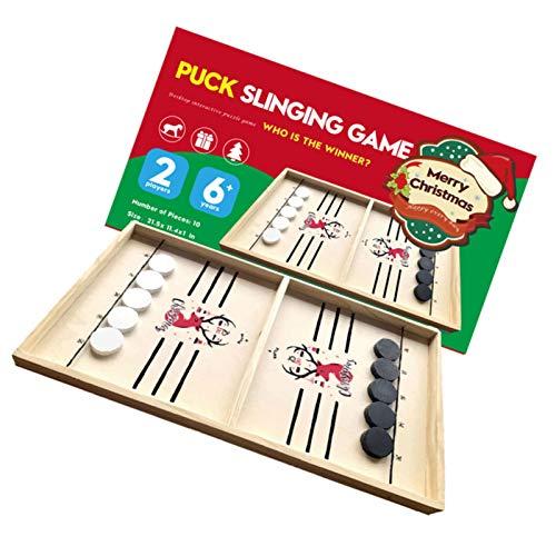 Phrat Brettspiel Hockey, Schnelles Fast Sling Puck-Spiel, Tisch Hockey Brettspiel Katapult Schach...
