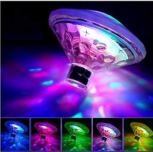 VJK Floating Lights for Hot Tub, Swimming Pool Battery Operated LED Craft Accent Light with 7 Modes Baby Bath Tub Toys Disco Pool Decorations or Party