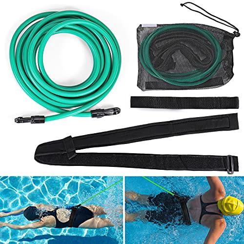 Elastico Piscina Nuoto, Regolabile 3M/4M Cintura da Nuoto per Adulti Bambini Professionisti, Elastico per Nuoto per l'allenamento di Resistenza al Nuoto