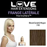 Amore Hair Extensions - IPL / FRK1 / QFC / ICM / 10 - thermofibre (TM) - Clip-In con frange laterali sfalsate - Colore 10 - Media Ash Brown