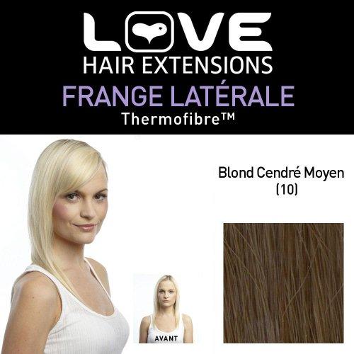 Love Hair Extensions - LHE/FRK1/QFC/CISF/10 - Thermofibre™ - Clip-In Frange Latérale - Couleur 10 - Medium Ash Brown