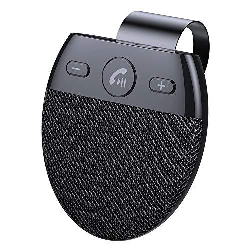 LEAMER Transmisor FM, adaptador de radio inalámbrico Bluetooth 5.0 Radio de Trabajo Conexión Multipunto Celular Coche Claro Estéreo Envolvente Bluetooth Manos Libres