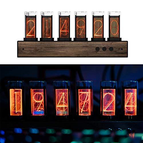 CABINA HOME LED Nixie Tubes Uhr Nixie Farbe einstellbar LED-Uhr Digital Tube Clock mit Magnetic Design LED Glow Tube Clock LED-Textuhr Geschenk für den Eltern,Freunde,Kinder