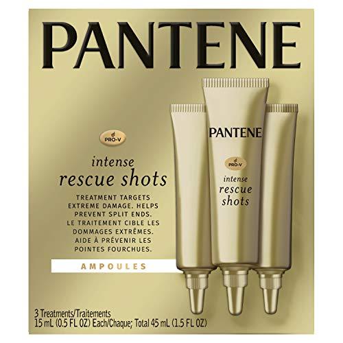 Pantene, Rescue Shots Hair Ampoules Treatment, Intensive Repair of Damaged Hair, Pro-V, 0.5 fl...